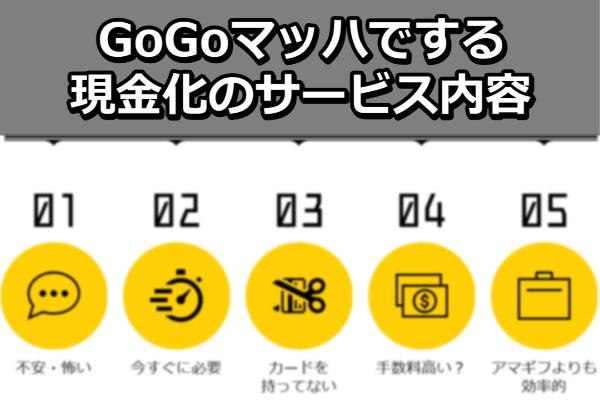 GoGoマッハでする現金化のサービス内容